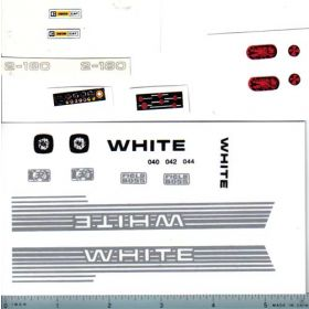 Decal 1/16 White 2-180 Set