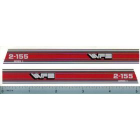 Decal 1/16 White Red Hood Stripes 2-155