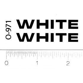 Decal White Logo 9/32 inch tall black