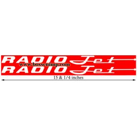 Decal Radio Flyer Jet Wagon