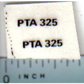 Decal 1/32 Steiger PTA325 Model Number
