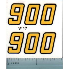 Decal 1/16 Versatile 900 Series 2 Mo. # (early)