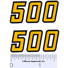 Decal 1/16 Versatile 500 model numbers