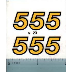 Decal 1/16 Versatile 555 Series 2 Model numbers (late)