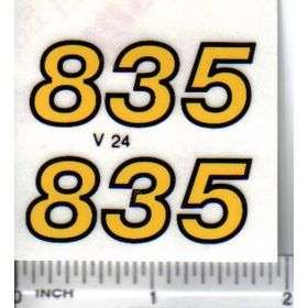 Decal 1/16 Versatile 835 model numbers