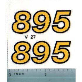 Decal 1/16 Versatile 895 Series 2 Model #'s (late)