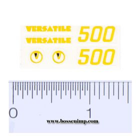 Decal 1/64 Versatile 500 Set - Yellow, Black (pair)