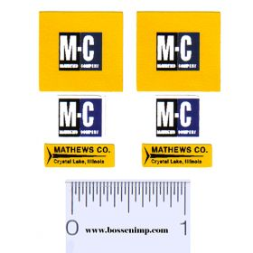 Decal Mathews Co. M-C Set (Pairs)