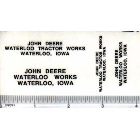 Decal 1/64 JD Waterloo Tractor Works Set