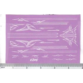 Decal Pin Stripe Set - White large