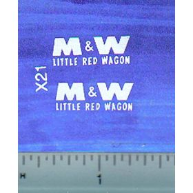 Decal M&W Logo (white) small