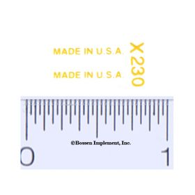 Decal 1/16 Made in the U.S.A.  (yellow)