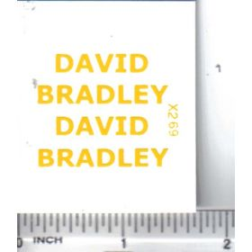 Decal 1/16 David Bradley - Yellow