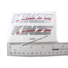 Decal Kinze Logo 1/16  pair