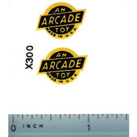 Decal Arcade Logo (yellow and black)