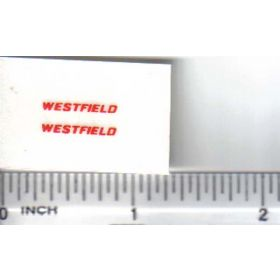 Decal 1/64 Westfield - Red