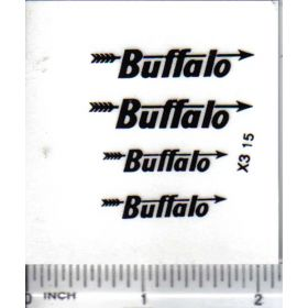 Decal 1/16 Buffalo - Black on Clear
