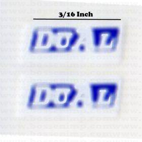 Decal 1/64 Dual - White, Blue