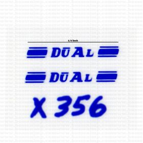 Decal 1/64 Dual - Blue