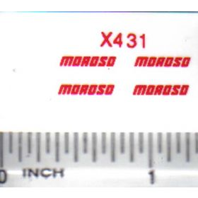Decal 1/16 Moroso - Red