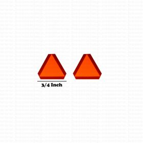 Decal SMV Slow Moving Vehicle 1/16 medium set of 2