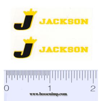 Decal 1/16 Jackson Yellow, Black (pair)