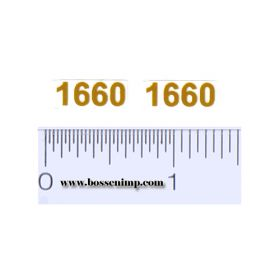 Decal 1/16 Case 1660 Model Number, Light Yellow (pair)