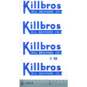 Decal 1/16 Killbros - Blue