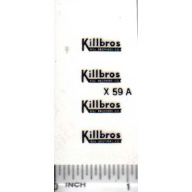 Decal 1/64 Killbros - Black