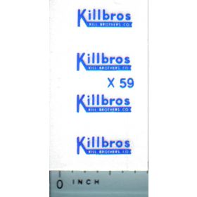 Decal 1/64 Killbros - Blue