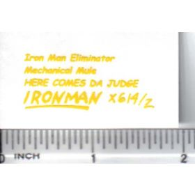 Decal 1/64 Iron Man Eliminator - Yellow