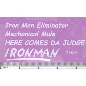 Decal 1/16 Iron Man Eliminator Set - White