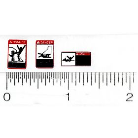 Decal 1/16 Warning Labels, Orange (Pair)