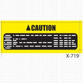 Decal 1/25 Warning