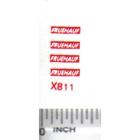 Decal 1/64 Fruehaf - White, Red