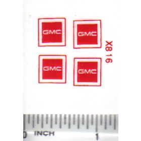Decal 1/64 GMC - Red