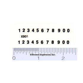 Decal Number Set - Black 3/32in. x 1/4in.