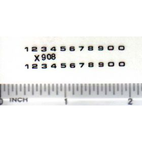 Decal Number Set - Black 1/16in. x 1/16in.