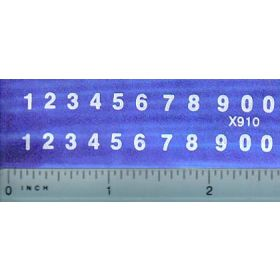 Decal Number Set (white)