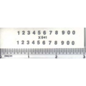 Decal Number Set - Silver 3/32 x 1/4