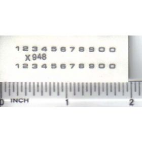 Decal Number Set - Silver 1/16in. x 1/16in.