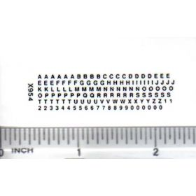 Decal Alpha/Numerical Set - Black 1/16in. x 1/16in.