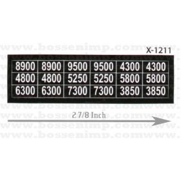 Decal 1/16 GEA Houle Model Number Set