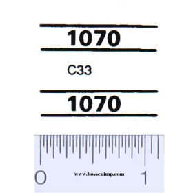Decal 1/16 Case 1070 Model Numbers (Pair)