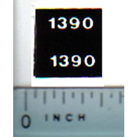 Decal 1/32 Case 1390 Model Numbers