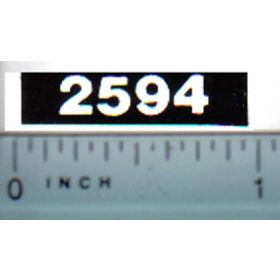 Decal 1/16 Case 2594 Model Numbers (white on black)