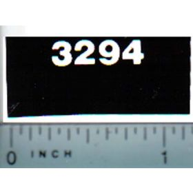 Decal 1/16 Case 3294 Model Numbers (white on black)