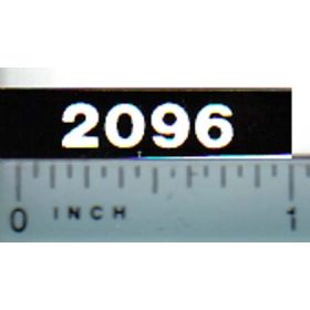 Decal 1/16 Case 2096 Model Numbers (white on black)