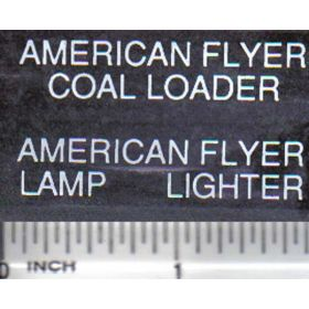Decal 1/16 American Flyer Set