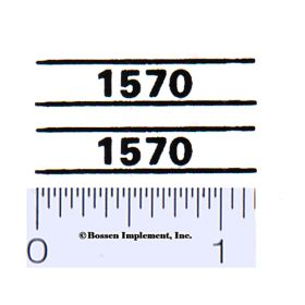 Decal 1/16 Case 1570 Model Numbers